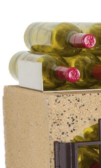 Flessensteun voor bovenop Blocavin wijnrek.