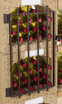 Aflsuitbaar hekje voor Blocavin wijnrek.