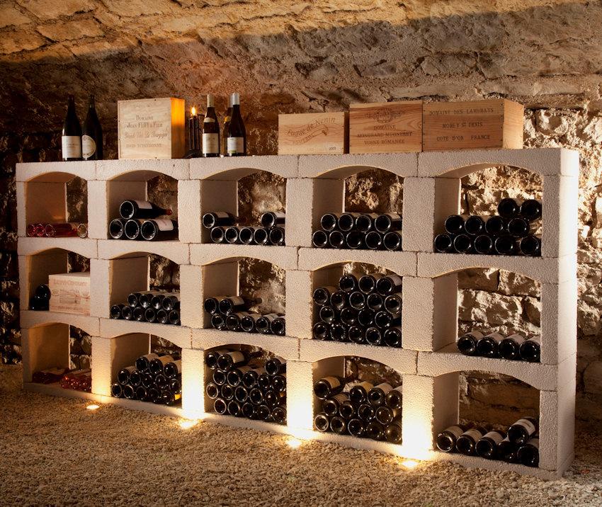 Wijnrek van steen stijlvolle classic wijnnissen - Weinregal stein selber bauen ...