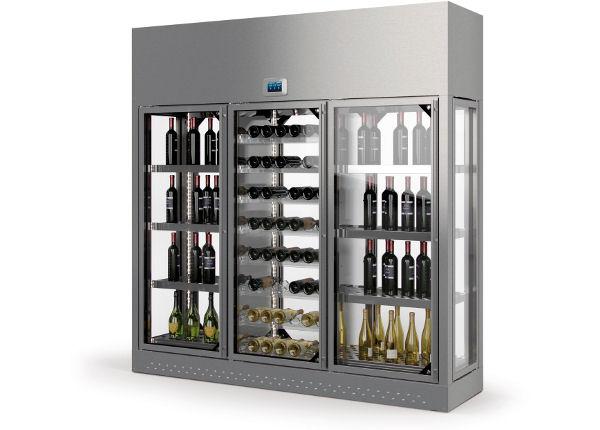 Modulaire wijnvitrine wijnklimaatkast voor de horeca - Modulaire muur ...