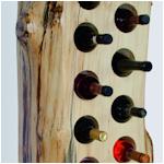 Boomstam wijnrek