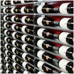Wijnrek wand Mural