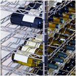 Wijnrek van verchroomd staal voor 168 flessen