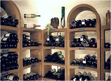 Bogen wijnrek, voorbeeldopstelling.